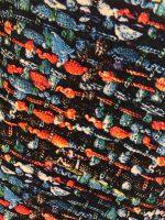 Vegas For Her jurk Geweven Kobalt Patroon