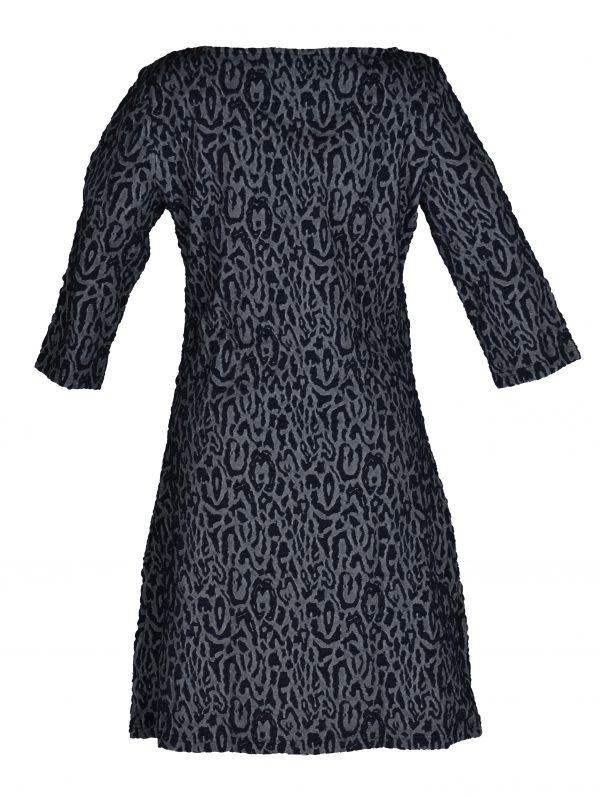 Vegas jurk Panterprint Blauw achter
