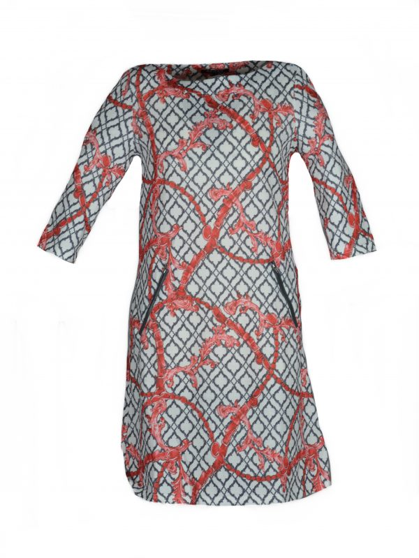 Vegas jurk Riem Rood
