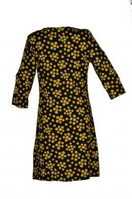 Vegas jurk zwart gele stip