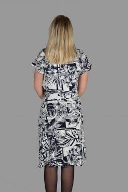 NED jurk Zwart wit print