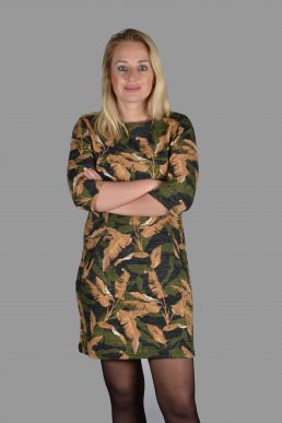 Vegas jurk camouflage blad