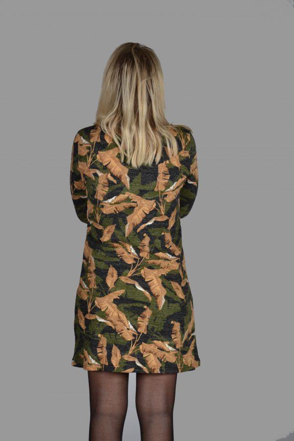Vegas jurk camouflage blad2