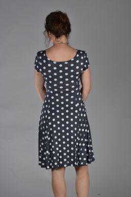 Stella Moretti jurk grey white stip