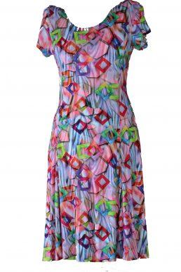 Stella Moretti jurk pink block