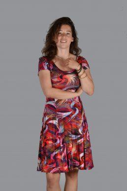 Stella Moretti jurk vegen rood
