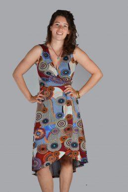 Sweet miss jurk lang cirkels