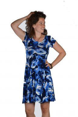 Stella Moretti jurk blue cirkel