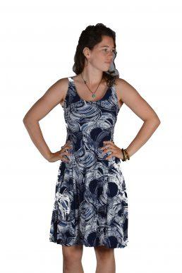 Stella Moretti jurk blauw cirkel