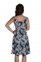 Stella Moretti jurk blauw bloem wit