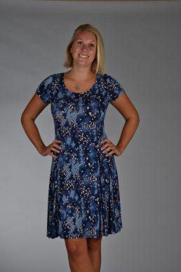 Stella Moretti jurk ijsblauw blok