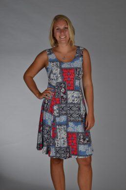 Stella Moretti jurk rood blok