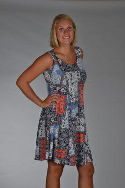 Stella Moretti jurk orange blok