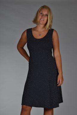 Stella Moretti jurk zwart wit stip