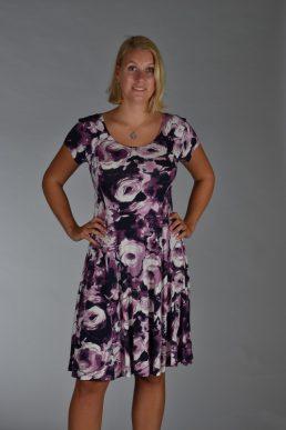 Stella Moretti jurk paars bloem