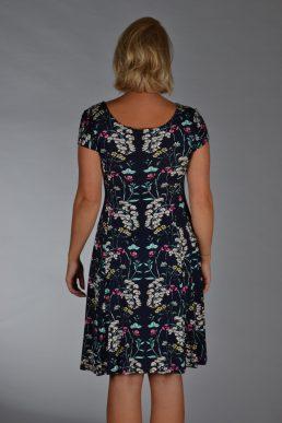 Stella Moretti jurk Blauw met veldbloemen