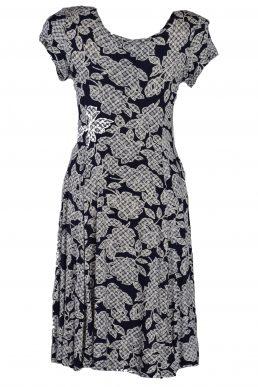 Stella Moretti jurk blauw wit vlek