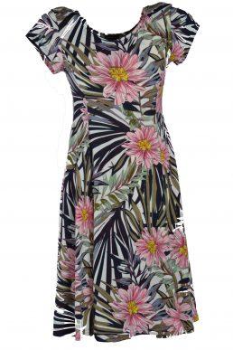 Stella Moretti jurk roze bloem