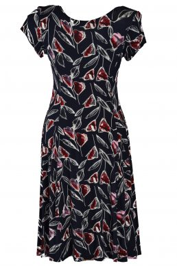 Stella Moretti jurk zwart rood