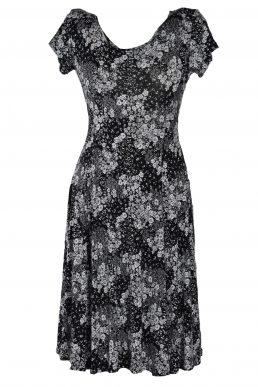 Stella Moretti jurk zwart wit bloem