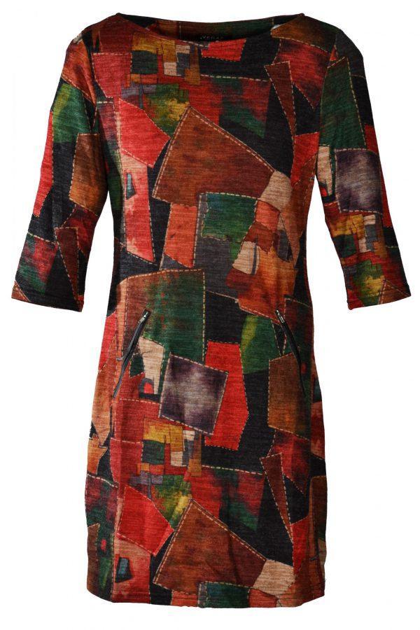 Vegas jurk patchwork