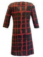 Vegas jurk grey blok red stripe