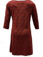 Vegas jurk rood fijne glitter dolhof