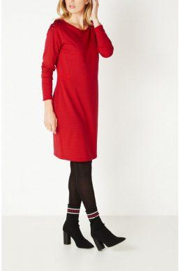 Sandwich jurk rode zachte jersey