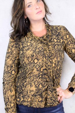 Angelle Milan shirt gold black