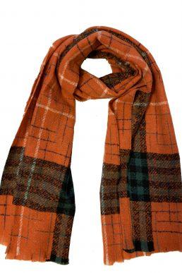 Sjaal orange ruit