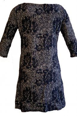 Vegas jurk donker blauw wit vegen