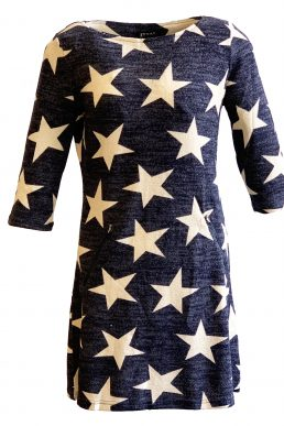 Vegas jurk grey blue star