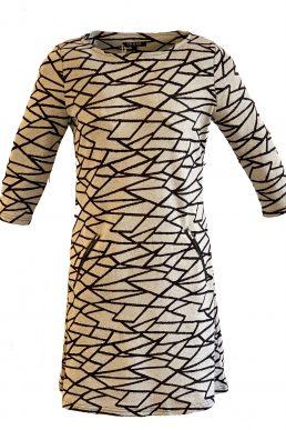Vegas jurk grafische lijnen