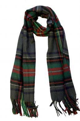 Sjaal groen grijs ruit
