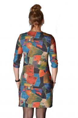 Vegas jurk div gekleurde blokken