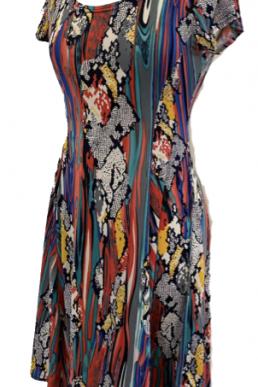 Stella Moretti jurk waterfall dress
